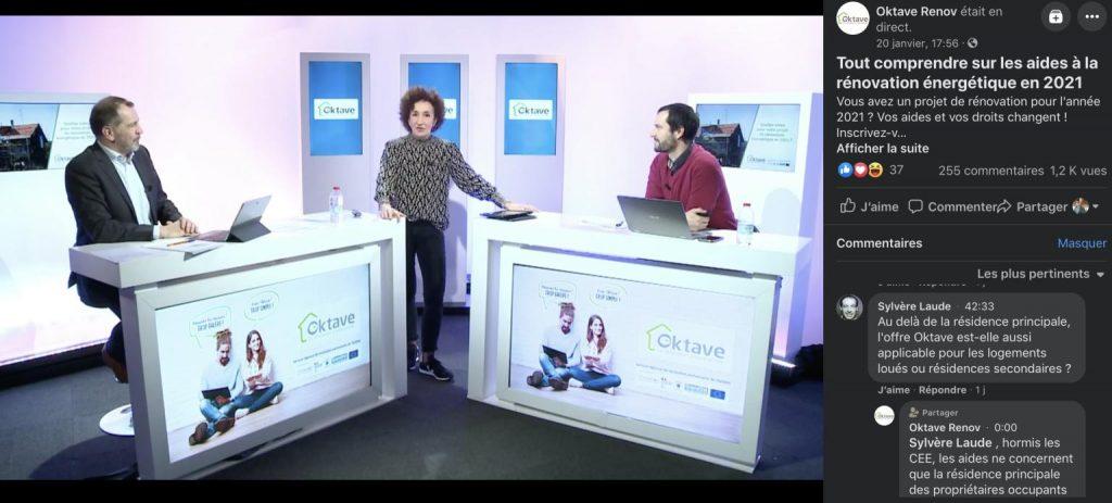 plateau facebook live oktave